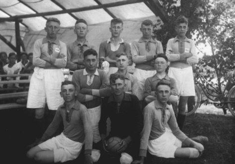 1. Mannschaft beim Spiel in Hottenbach 1925